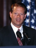 Al Gore Giving a Speech for the Public in a Portrait Photo by  Movie Star News