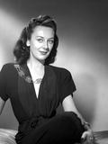 Ann Dvorak on Dark Dress and sitting Portrait Photo by  Movie Star News