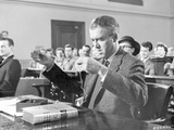 Anatomy Of A Murder Man Showing an Evidence in Movie Scene in Black and White Photo by  Movie Star News