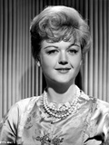 Angela Lansbury on a Silk Dress and Slightly smiling Photo by  Movie Star News