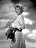Angela Lansbury Looking Away wearing a Checkered Dress Holding a Hat Photo by  Movie Star News