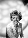 Angela Lansbury Checkered and smiling Photo by  Movie Star News