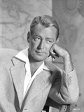 Alan Ladd Making a Thinking Pose in Close Up Portrait Photo by  Movie Star News