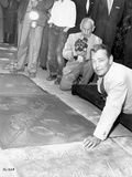 Alan Ladd Leaning on the Floor in Portrait in Classic Photo by  Movie Star News