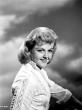 Angela Lansbury on a White Long Sleeve sitting and smiling Photo by  Movie Star News