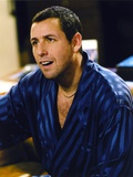 Adam Sandler in Black and Blue Striped Robe Photo by  Movie Star News