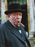 Albert Finney in Formal Outfit wearing Hat with Cigar Portrait Photo by  Movie Star News