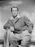 Alan Ladd sitting on the Fence Photo by  Movie Star News