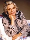 Anne Bancroft Pose in Floral Dress sitting on Chair Photo by  Movie Star News