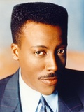 Arsenio Hall Portrait in Black Coat Photo by  Movie Star News