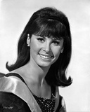 Stefanie Powers smiling in Black and White Portrait wearing Black Glitter Dress Photo by  Movie Star News