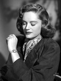 Alexis Smith Eyes Closed in Classic Portrait wearing a Wrist Watch Photo af Movie Star News