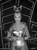 Anne Francis in Elegant Gown Holding a Mask Photo by  Movie Star News