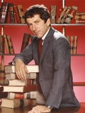 Barry Newman in Formal Attire Portrait with Pile of Books Besides Him Photo by  Movie Star News