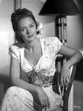 Donna Reed on Printed Dress Photo by  Movie Star News