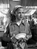 Bonita Granville on Checkered Maid Uniform Portrait Photo by  Movie Star News