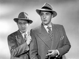 Behave Yourself Two Men in Black and White Portrait Photo by  Movie Star News