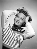 Donna Reed on a Stripe Top Photo by  Movie Star News