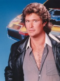David Hasselhoff Portrait in Black Leather Jacket Photo by  Movie Star News