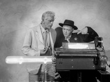 Boogie Man Will Get You Cast Members in front of Typewriter Machine Portrait Photo by  Movie Star News