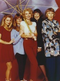 Beth Broderick Group Picture in Red Background Photo by  Movie Star News