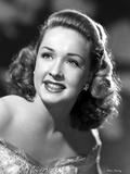 Bonita Granville smiling and Looking Up wearing Lace Dress in Gray scale Portrait Photo by  Movie Star News