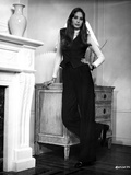 Deborah Raffin Leaning on a Drawer wearing Black Vest and Black Pants Photo by  Movie Star News