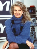 Candice Bergen Posed in Blue Sweater Portrait Photo by  Movie Star News