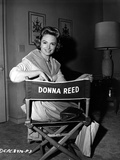 Donna Reed on an Actor Chair Photo by  Movie Star News