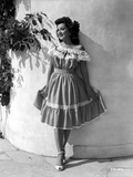 Ann Rutherford Leaning on the Wall while Holding Her Skit Photo by  Movie Star News