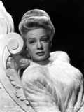 Betty Hutton on a Fluffy Top and Leaning Photo by  Movie Star News