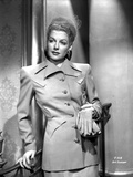 Ann Sheridan Leaning on the Chair, wearing a Coat Dress Photo by  Movie Star News