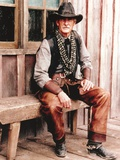 Dennis Weaver Portrait in Cowboy Outfit Photo by  Movie Star News