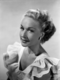 Bonita Granville on a Ruffled Top Portrait Photo by  Movie Star News