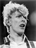 David Bowie Close Up Portrait Showing His Tongue Foto av  Movie Star News