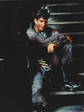 Dan Aykroyd Siting on Stairs in Classic Picture Photo by  Movie Star News