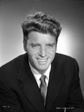 Burt Lancaster smiling in Suit and Necktie Photo by  Movie Star News