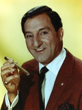 Danny Thomas Posed in Brown Coat and Tie Photo by  Movie Star News
