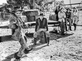 Cat Ballou Four People Watching Man in Black and White Photo by  Movie Star News