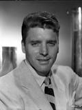 Burt Lancaster posed a Necktie and Stripe Necktie Photo by  Movie Star News