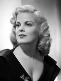 Cleo Moore Posed in Black Dress Close Up Portrait Photo by  Movie Star News