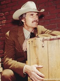 Dennis Weaver Portrait wearing Brown Suit with White hat Photo by  Movie Star News