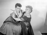 Behave Yourself Man and Woman in Black and White Portrait Photo by  Movie Star News