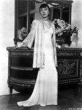Anna Wong wearing a White Long Gown Photo by  Movie Star News