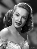 Bonita Granville smiling wearing Lace Dress in Gray scale Portrait Photo by  Movie Star News