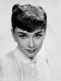 Audrey Hepburn Modeling Headshot Portrait Photo by  Movie Star News
