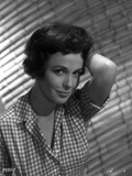 Claire Bloom Posed in Checkered Polo with One Hand on Head Photo by  Movie Star News