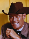Chuck Connors smiling in Suit with Hat Photo by  Movie Star News