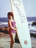 Annette Funicello Posed in Bikini with Surfing Board Photo by  Movie Star News