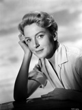 Deborah Kerr wearing Trench Coar in Black and White Photo by  Movie Star News